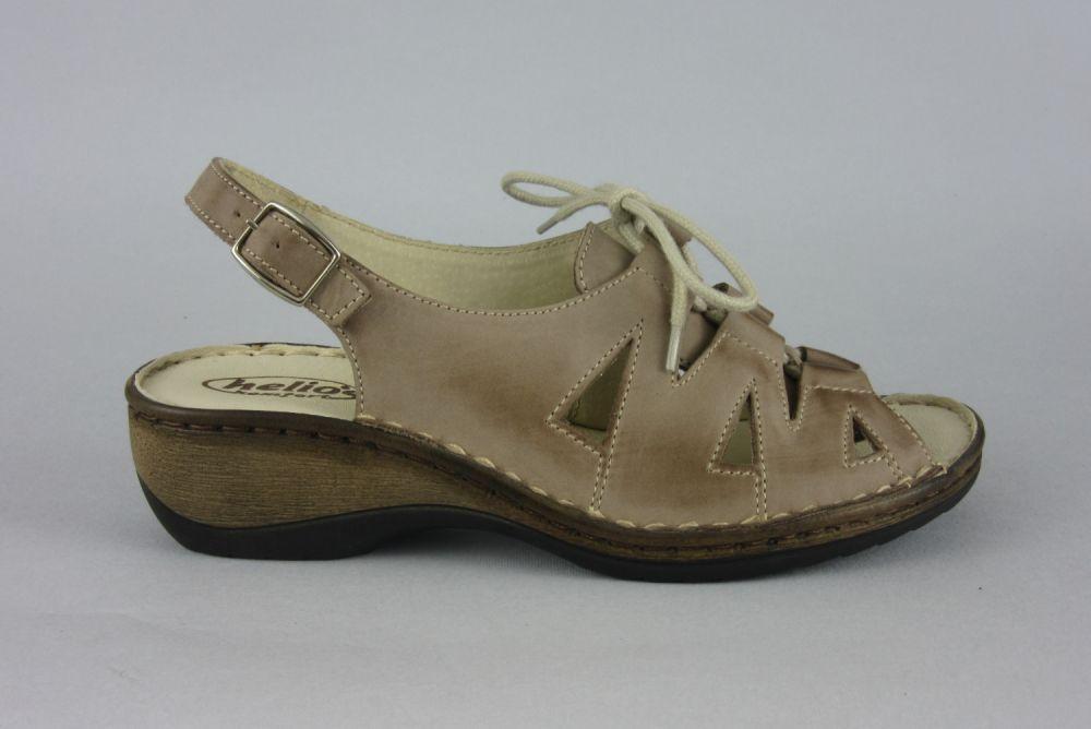 Sandały skórzane damskie HELIOS 687 CZARNY